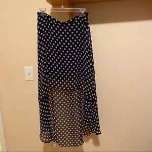 Forever 21 high-low skirt with white polka…